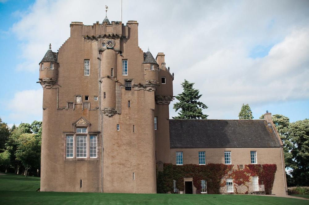 Well Travelled Bride Scottish Highlands Castle