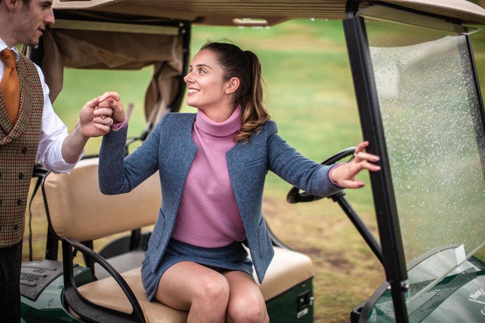 Well Travelled Bride Scottish Highlands Golf