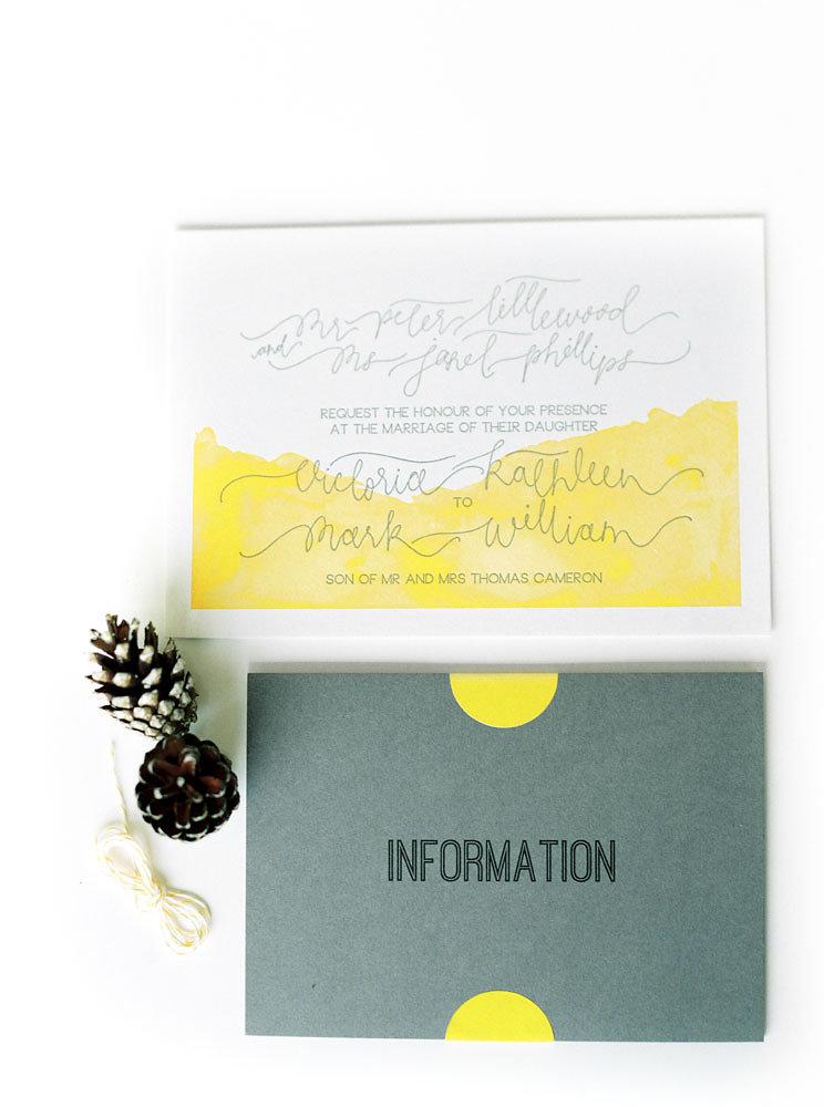 Well Travelled Bride Scotland Wedding Invite