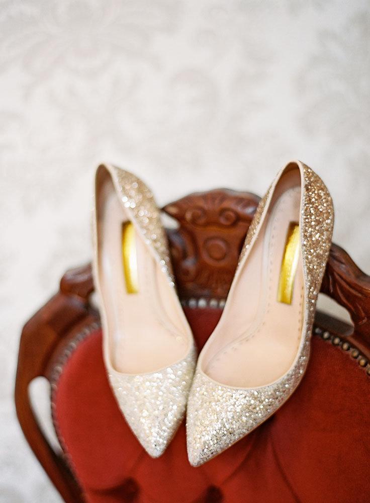 Well Travelled Bride Scottish Highlands Wedding Glitter Heels