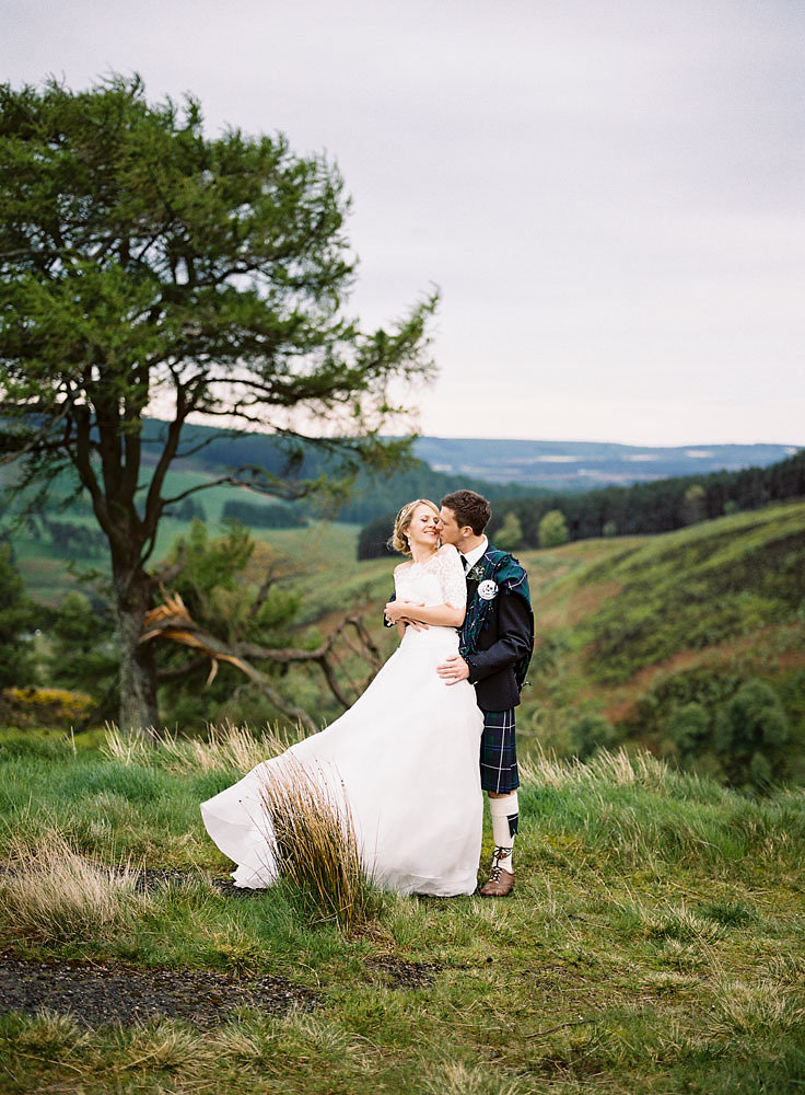 Well Travelled Bride Scottish Highlands Wedding Portrait