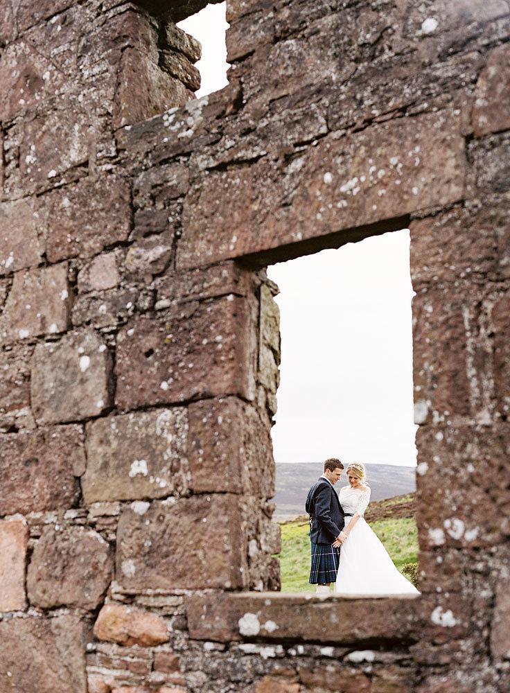 Well Travelled Bride Scottish Highlands Wedding Couple