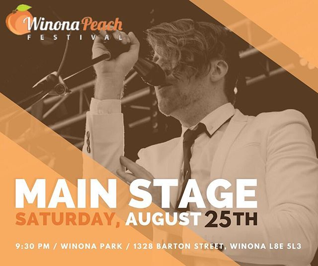 AUG 25 / 9:30 PM / MAIN STAGE / WINONA PEACH FEST