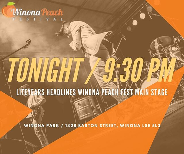 Winona! Tonight, we fulfil a childhood dream of headlining our hometown festival. It's been 20 years in the making since we first hit the Peach Fest's Fun Factory stage as kids. Counting down the hours, minutes and seconds. 9:30 PM can't come soon enough! See you all soon ❤️