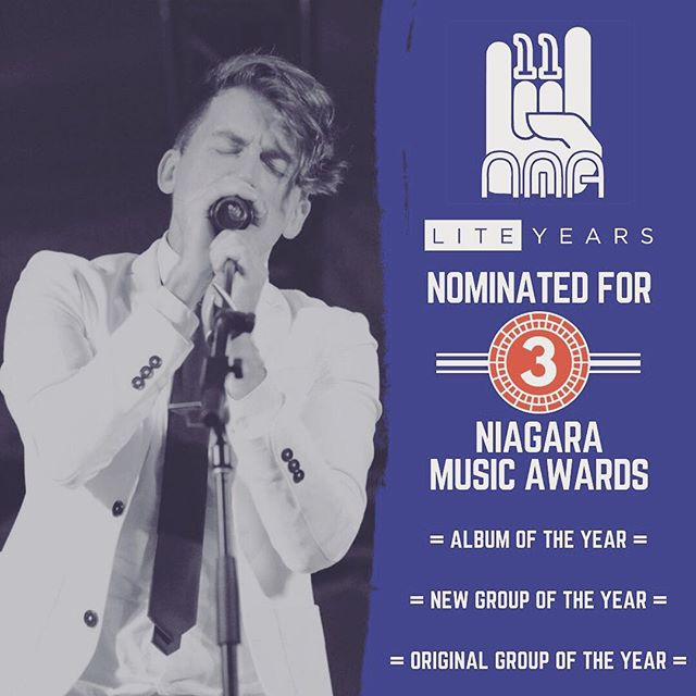 ICYMI we're honoured to have been nominated for 3 Niagara Music Awards. We'll also be performing at the award show Sunday night! The show will be televised nationwide via Cogeco TV and YourTV, so tune in Sunday at 7:30 PM EST to catch our performance!