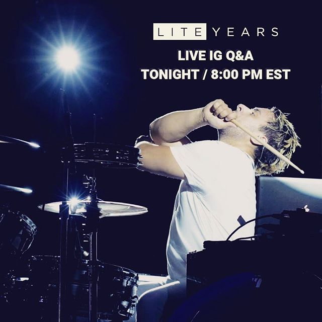 We'll be doing another IG Live Q&A tonight at 8:00 PM EST. Comment or DM us with your questions. We plan on making this a weekly event, so tune in each week for chats, impromptu acoustic performances and updates as we're finishing off recording our second album.