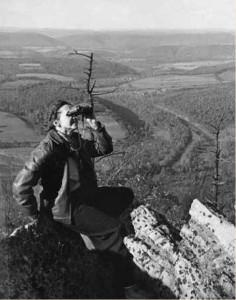 Rachel Carson at the North Lookout, Hawk Mountain, photo by Shirley A. Briggs