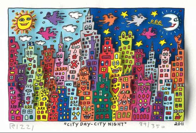 James Rizzi, City Day, City Night 2011.jpg