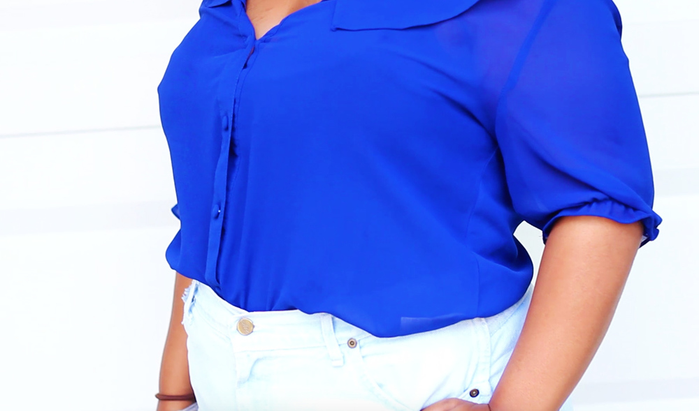 This blouse is from online retailer 599Fashion. Click  HERE  to find a similar blouse.