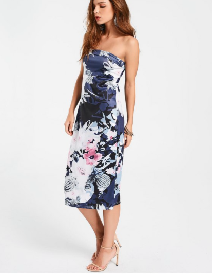 - Nothing says 90's more than a tube dress. This floral sheath dress can be worn on its own with a choker and some canvas sneakers during a hot summer day. It is also versatile enough to put a blazer over the top and wear it to the office. You really get your money's worth with this on trend retro dress.