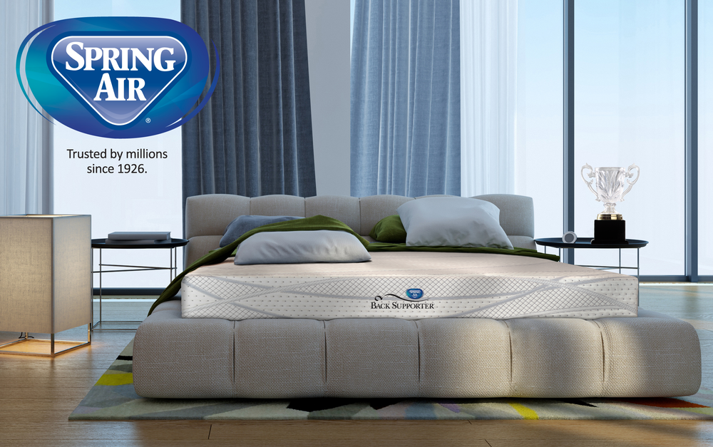 spring air mattresses and beds comfort and support 5 zone pocketed coil organic latex and memory foam ecowood foundation