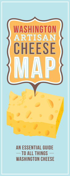 Cheese Map - The Washington Artisan Cheese Map is printed every year and highlights the amazing cheesemakers of Washington State.This map was made possible thanks to Lisa Miyashita, founder of the Washington Artisan Cheesemakers Festival and a devoted fan of artisan cheese.