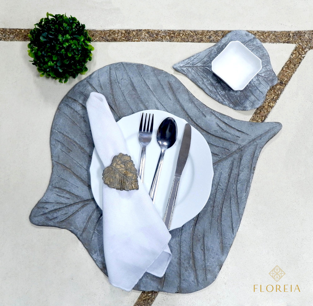 Placemats, coasters, napkin ring holders are an integral part of setting a dinner table: they look decorative and are useful for protecting your table from scrapes and spillages.