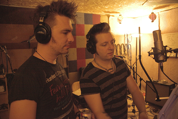 Nick & Monty going over the next song at FC Studio