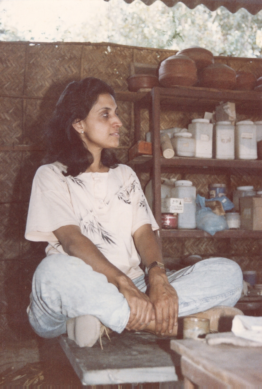 Ruby Jhunjhunwala at her studio