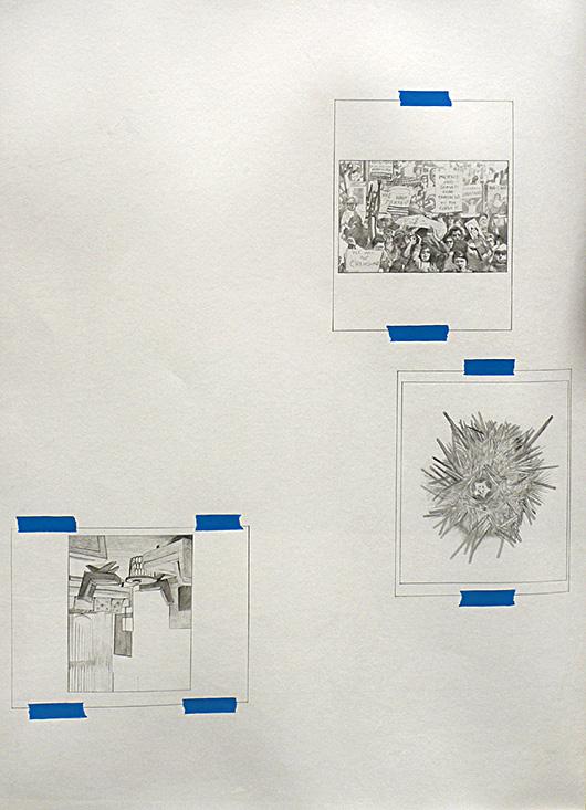 Untitled (Lieutenants Diary 3) , 2013 graphite acrylic on canvas, 100x73 cm