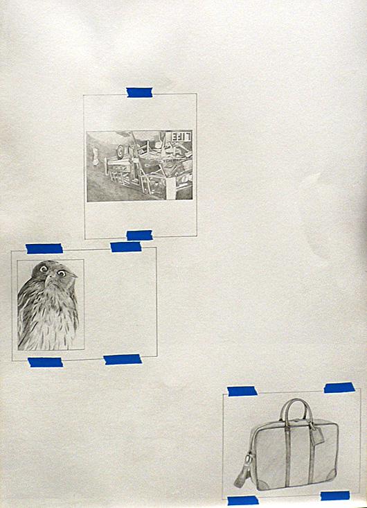 Untitled (Lieutenants Diary 1)  , 2013   graphite acrylic on canvas, 100x73 cm