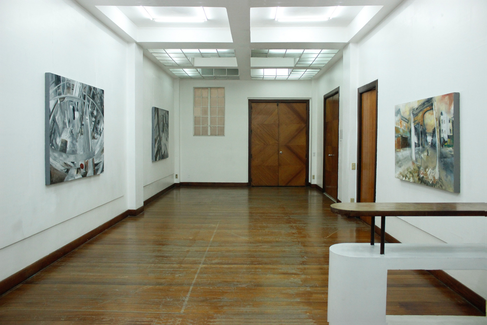 Installation view, (from left to right)  Point,  Bisita   &  Another Day ; artworks by  Alee Garibay