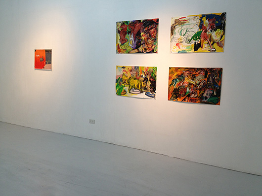 Installation view, from left to right, artworks by: Catalina Africa, Tom Dunn