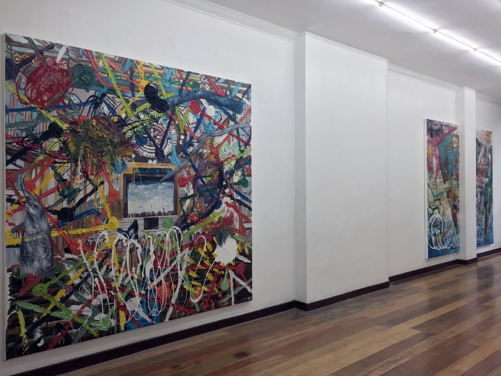Installation view, artworks by Ernest Concepcion.