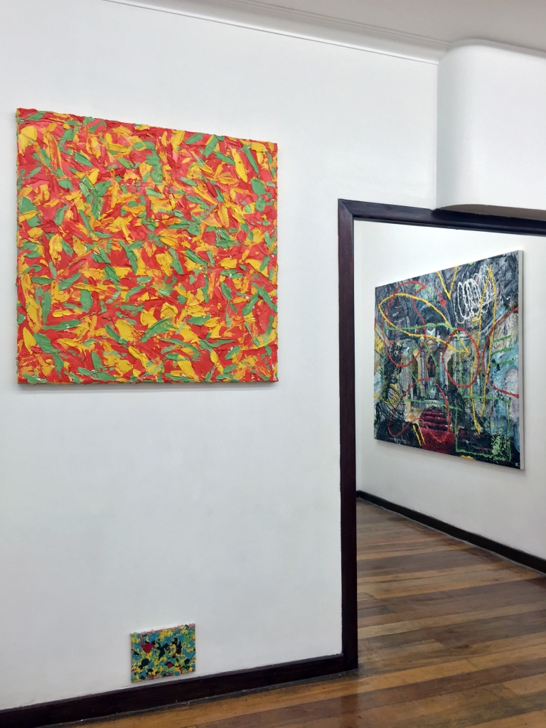 Installation view, artwork by Ernest Concepcion.