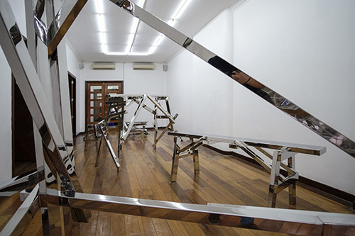 Installation view, artworks by: Poklong Anading