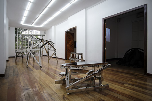 Installation view, artwork by: Poklong Anading