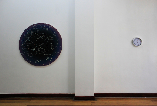 Installation view, (left)  Lie Tiers  & (right)   Untitled ; artworks by Ian Jaucian
