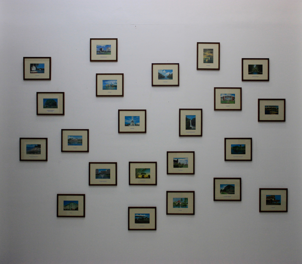 Installation view,  Postcards from Manila (version 1), 2001-2015 ; artwork  by Carlos Celdran