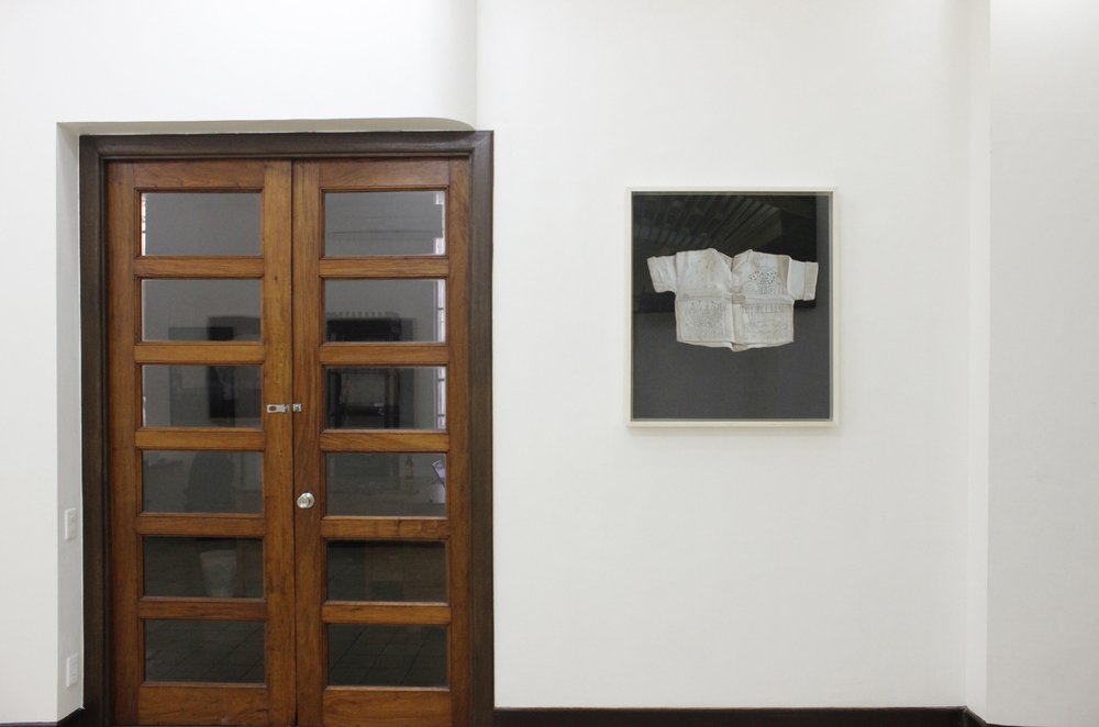 Installation view,  Security Blanket  ; artwork by Marina Cruz