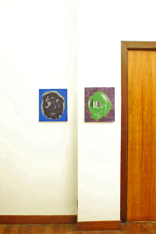 Installation view, artworks by: Lizza Mae David
