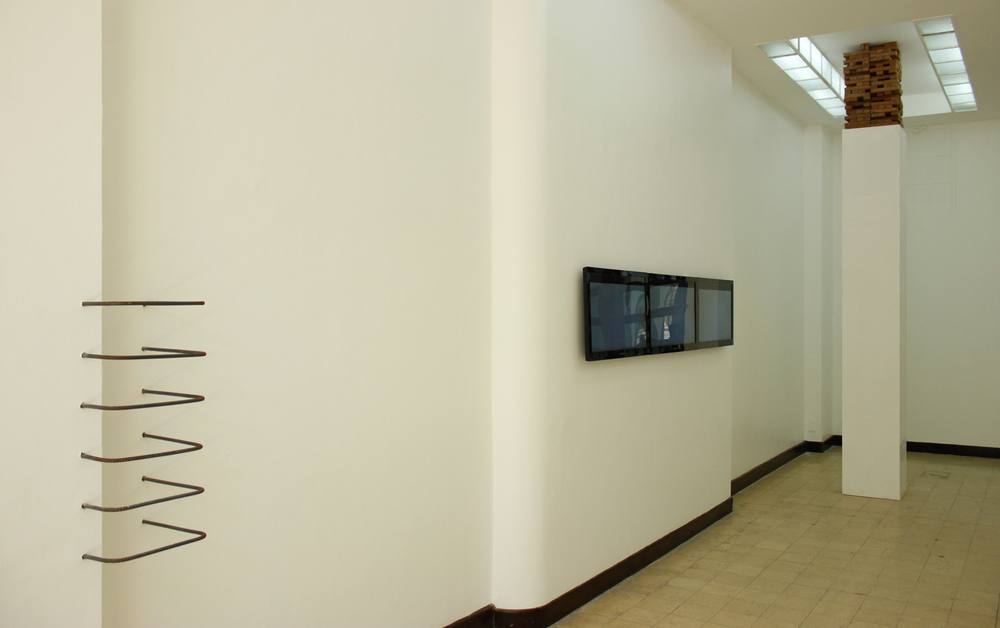 Installation view, (left to right)  Seamless Incongruence, face value  &  Ivory Tower ; artworks by Jose Luis Singson