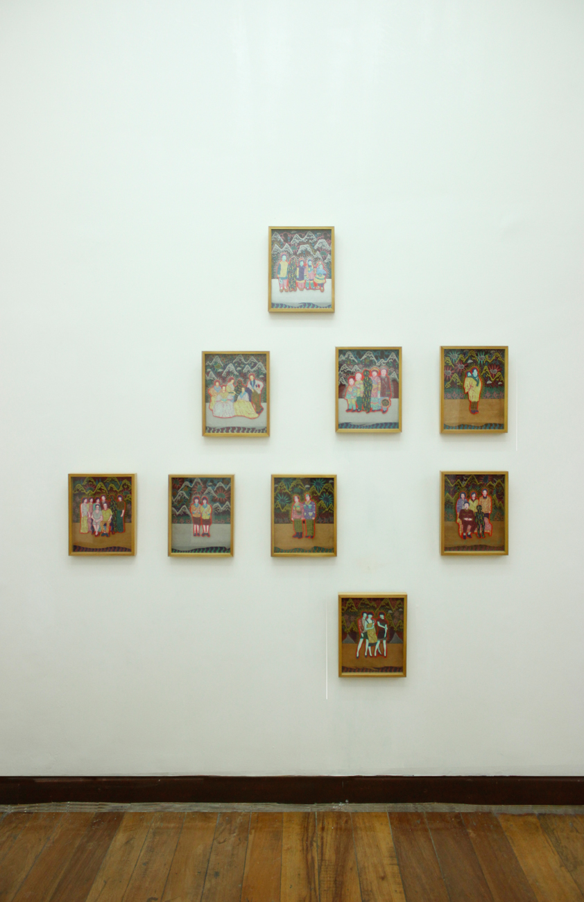 Installation view,  Timeline ; artwork by Dexter Sy