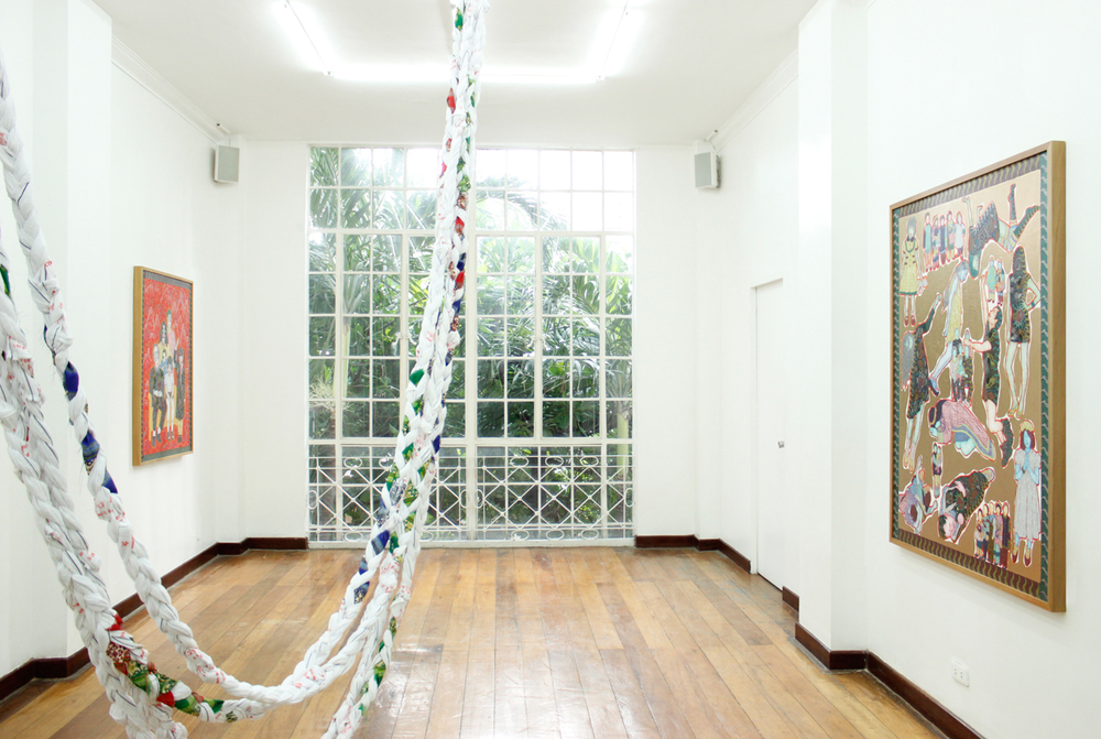 Installation view, (from left to right)  DNA ,  The Self Recognized by the Others , &  Identity Crisis ; artworks by Dexter Sy
