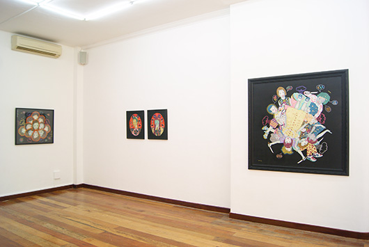 Installation view, artworks by: Dexter Sy