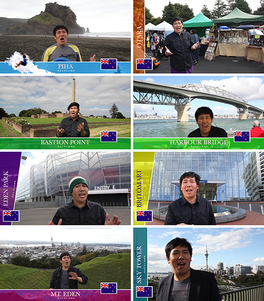 "A Practice of City Guide: Auckland , 2011 single-channel video installation 07'38"" HDV color/sound Image courtesy of the artist and Chi-Wen Gallery"