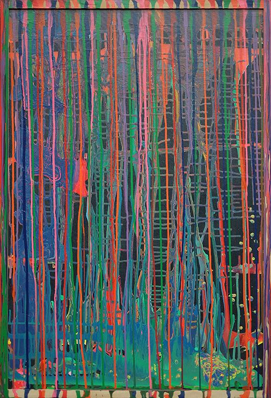 Landpaintings , 2015 Enamel on canvas, 36x24 in
