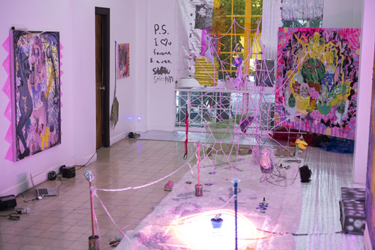 Installation view, artwork by: Maria Jeona Zoleta