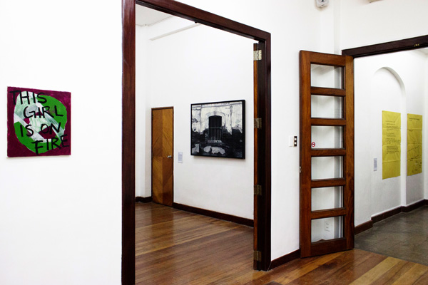 Installation view, artworks by: Lizza May David, Jose Luis Singson and Buen Calubayan(from left to right)