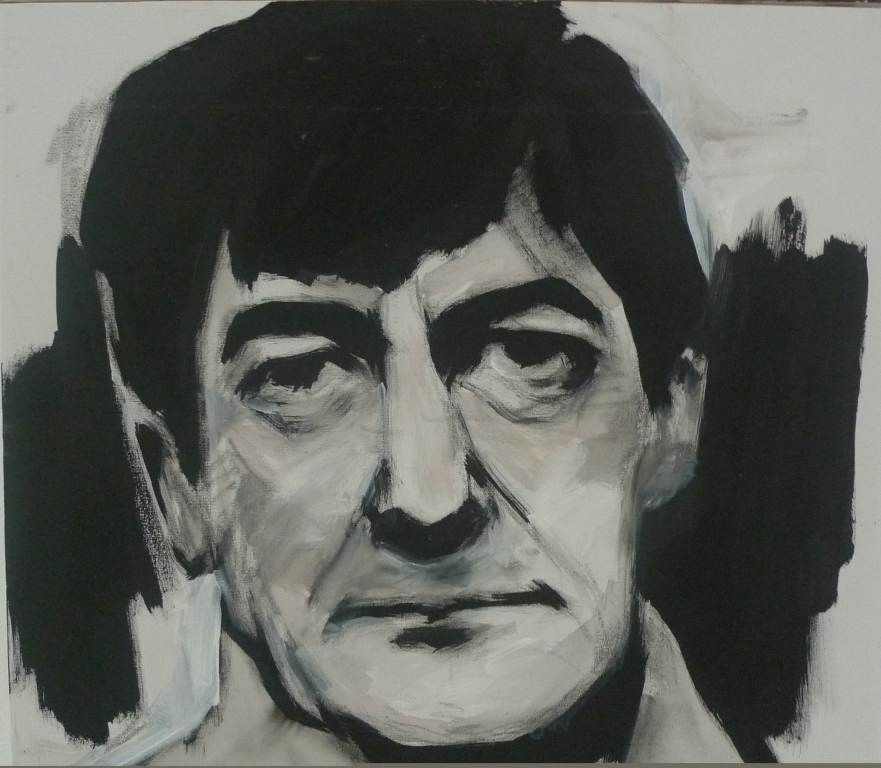 SHERWOOD ANDERSON , 2014 Acrylic on canvas 53.5 x 53.5 cm