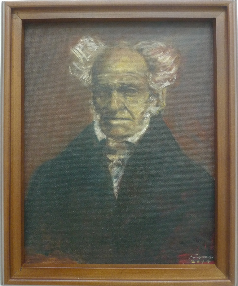 ARTHUR SCHOPENHAUER , 2014 Oil on canvas 20.5 x 25.4 cm