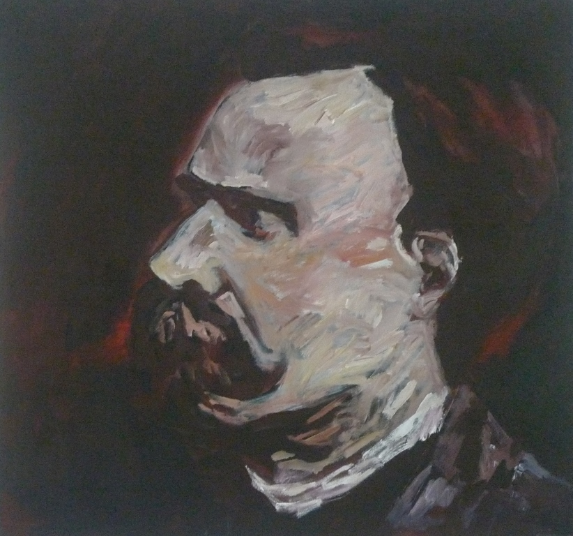 FRIEDRICH NIETZSCHE , 2014 Acrylic on canvas 76 x 76 cm