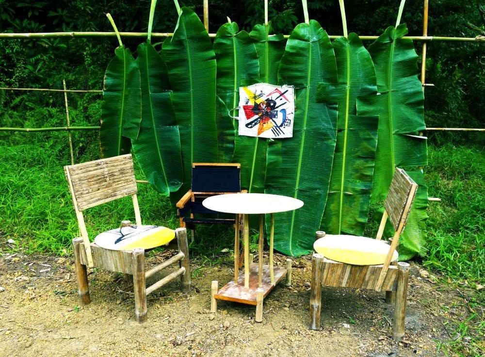 Kandinsky's living room (replica) Ayoke Island , 2016. digital print 76.5x56.5 cm