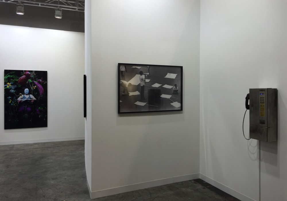 installation view, artworks by:  Kiri Dalena ,  Manny Montelibano
