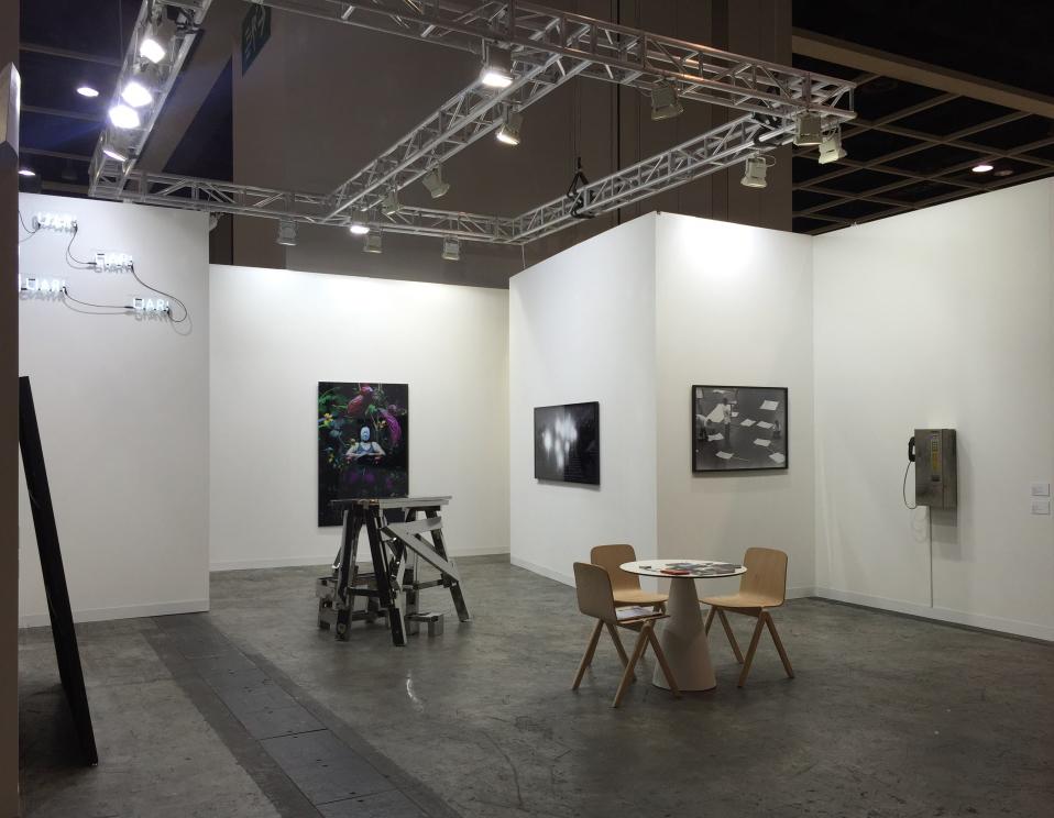 installation view, artworks by:  Poklong Anading ,  Kiri Dalena ,  Manny Montelibano