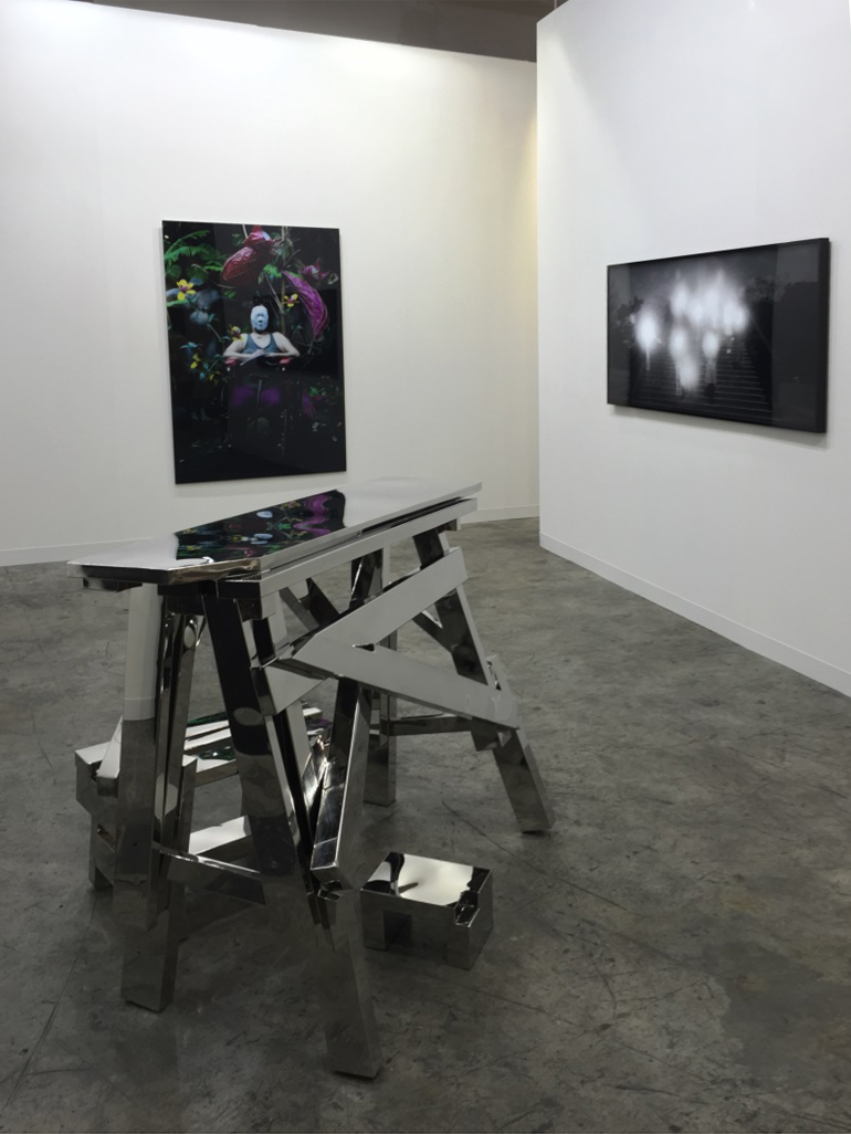 installation view, artworks by:  Poklong Anading ,  Kiri Dalena