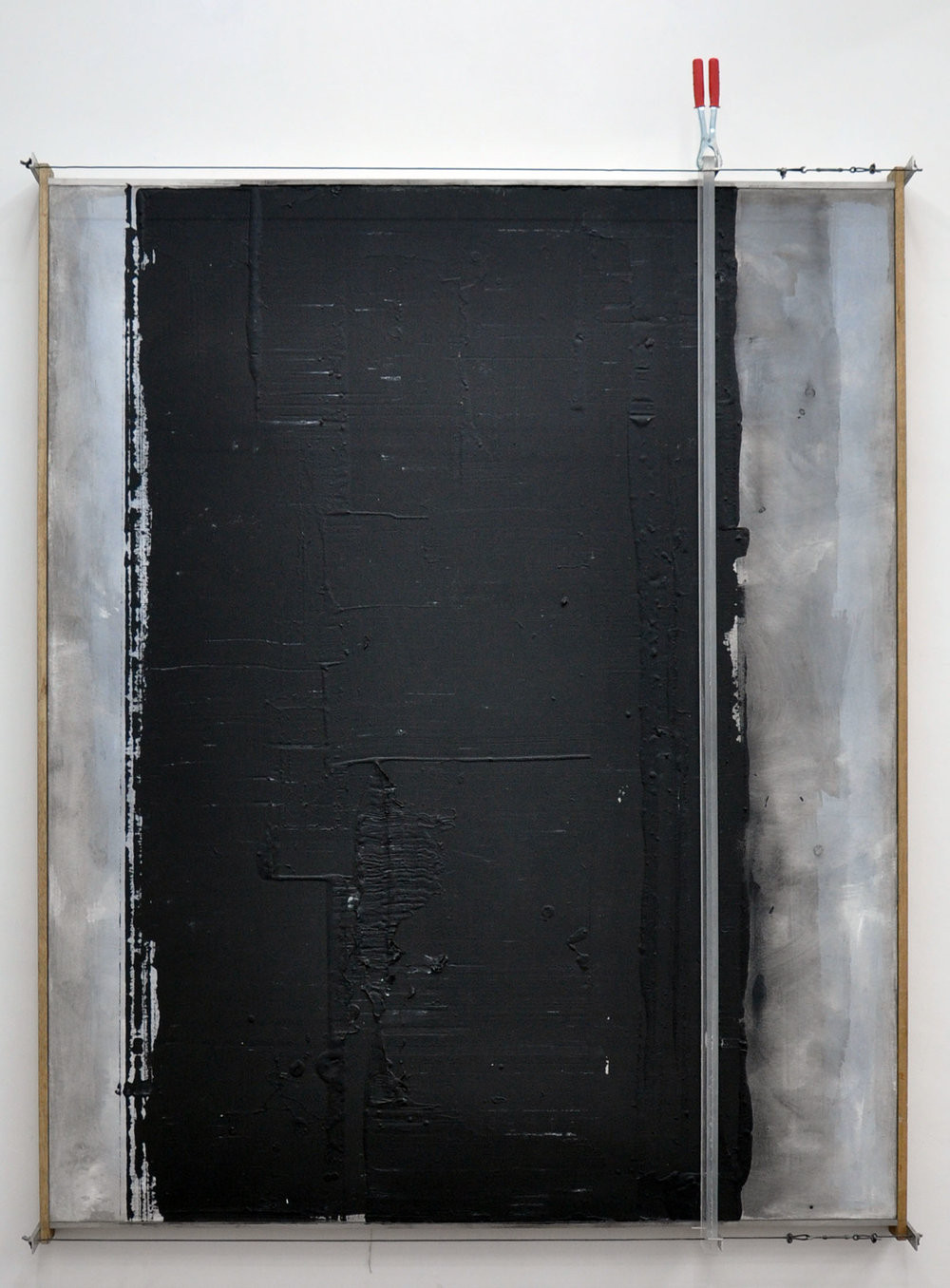 GUS ALBOR  Matters of Horizontal and Vertical Motions,  2015 Plexiglass, steel, wood, acrylic 190 x 155 cm.
