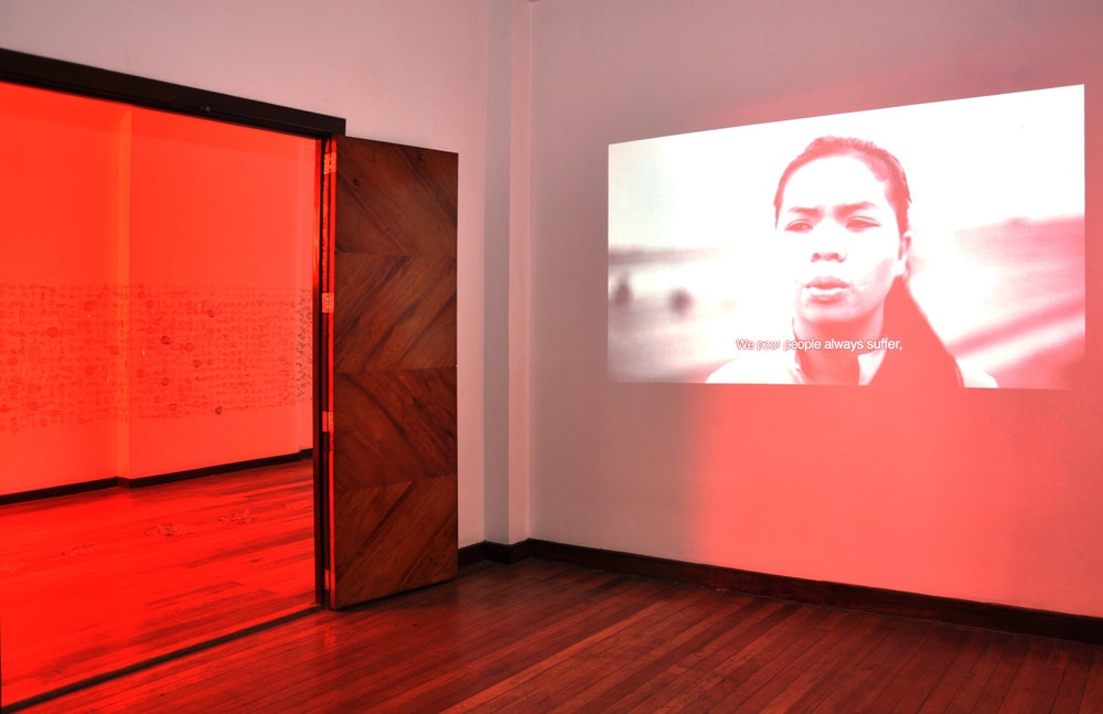 KIRI DALENA   Gikan sa Ngitngit nga Kinailadman,  2014 single-channel video, audio 2 min 6 sec  installation view