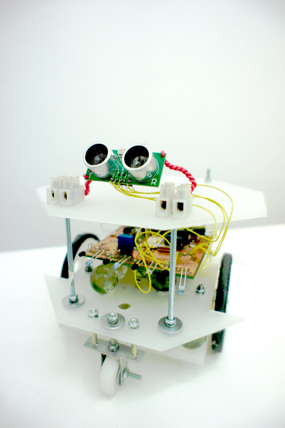IAN JAUCIAN   Viral Automata (Robot) , 2017 digital codes, plastic, metal, rubber, glass, electronics, light 16 x 16 x 16 cm