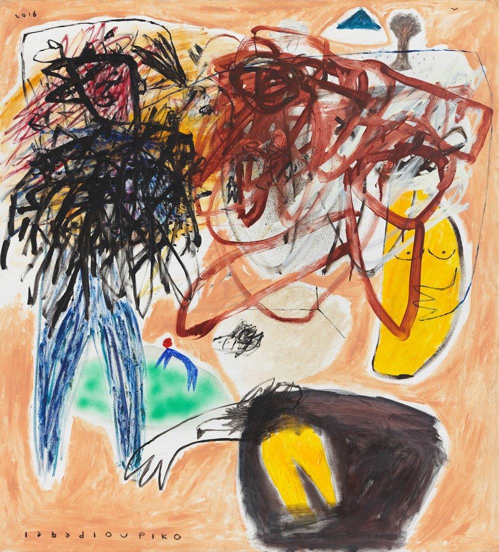 PI01706ex_Iabadiou Piko Menjaga Matahari 2016 Acrylic Oil Bar Aerosol Spray Paint on Canvas 160 x 145 cm.jpg
